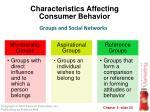 characteristics affecting consumer behavior10