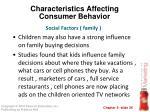 characteristics affecting consumer behavior14