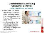 characteristics affecting consumer behavior15