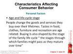 characteristics affecting consumer behavior17
