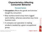 characteristics affecting consumer behavior21