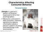 characteristics affecting consumer behavior23