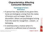 characteristics affecting consumer behavior29