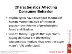 characteristics affecting consumer behavior31