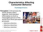 characteristics affecting consumer behavior33