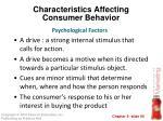 characteristics affecting consumer behavior36