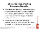 characteristics affecting consumer behavior38