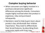 complex buying behavior