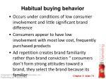 habitual buying behavior