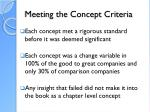 meeting the concept criteria
