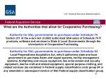 what are the authorities that allow for cooperative purchasing