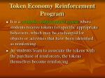 token economy reinforcement program