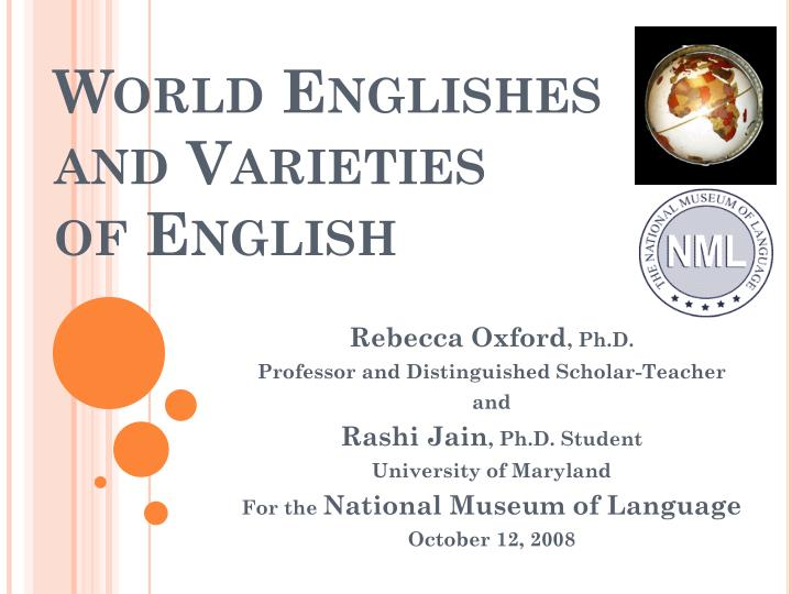 world englishes and varieties of english n.