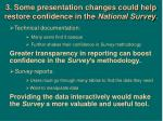 3 some presentation changes could help restore confidence in the national survey