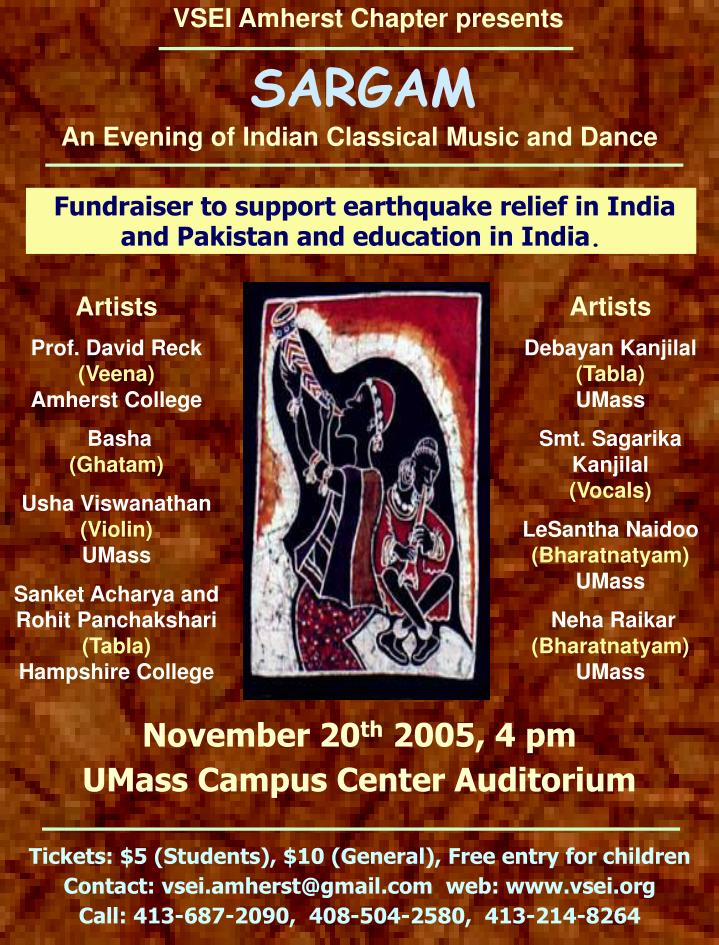 an evening of indian classical music and dance n.