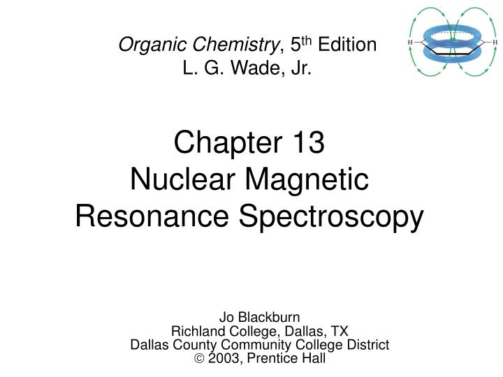 chapter 13 nuclear magnetic resonance spectroscopy n.