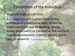 celebration of the individual