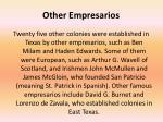 other empresarios
