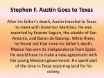 stephen f austin goes to texas