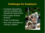 challenges for employers