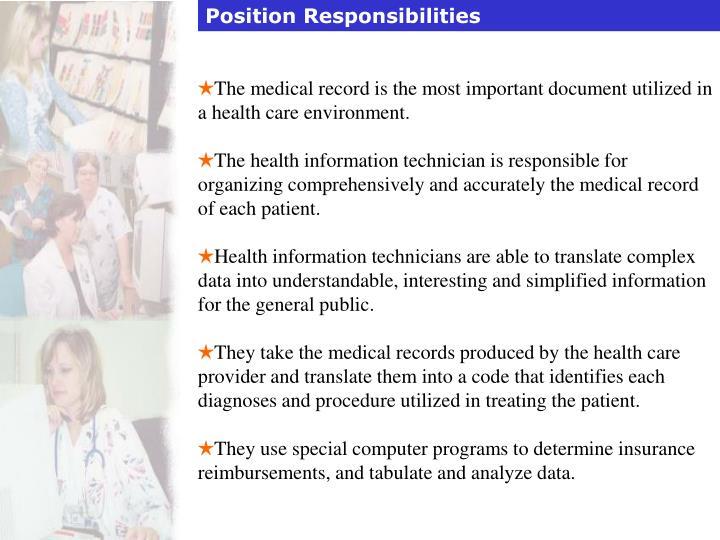 Position Responsibilities