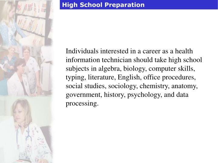 High School Preparation