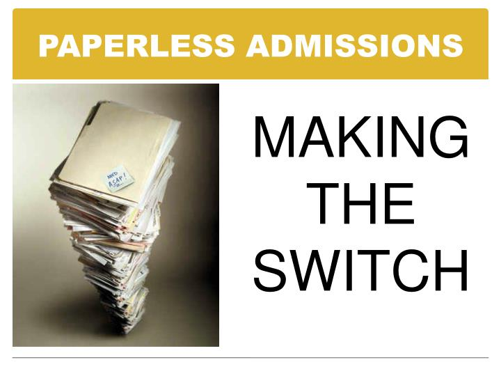 paperless admissions n.