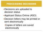 processing decisions