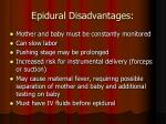 epidural disadvantages