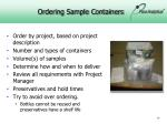 ordering sample containers
