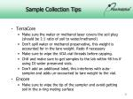 sample collection tips