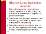 bivariate linear regression analysis