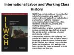 international labor and working class history