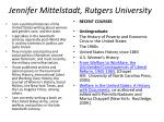 jennifer mittelstadt rutgers university