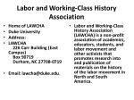labor and working class history association