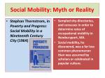 social mobility myth or reality