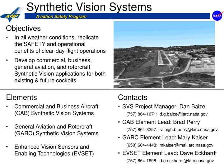 synthetic vision systems n.