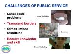 challenges of public service