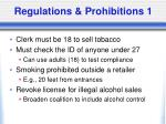 regulations prohibitions 1