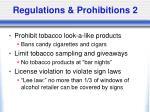 regulations prohibitions 2