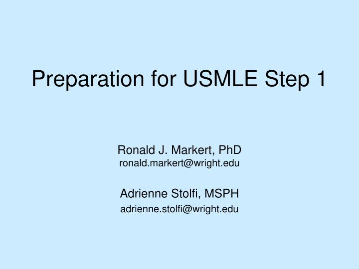 preparation for usmle step 1 n.