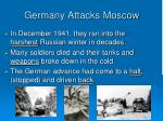 germany attacks moscow