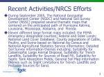 recent activities nrcs efforts