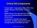 critical dq components