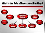 what is the role of investment banking