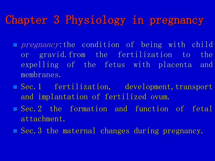 PPT - Chapter 3 Physiology in pregnancy PowerPoint Presentation - ID