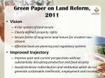 green paper on land reform 2011
