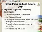 green paper on land reform 20112