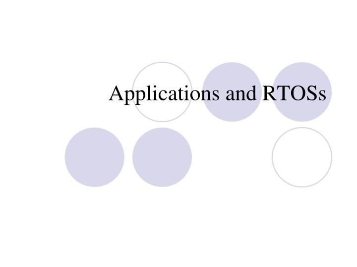 applications and rtoss n.