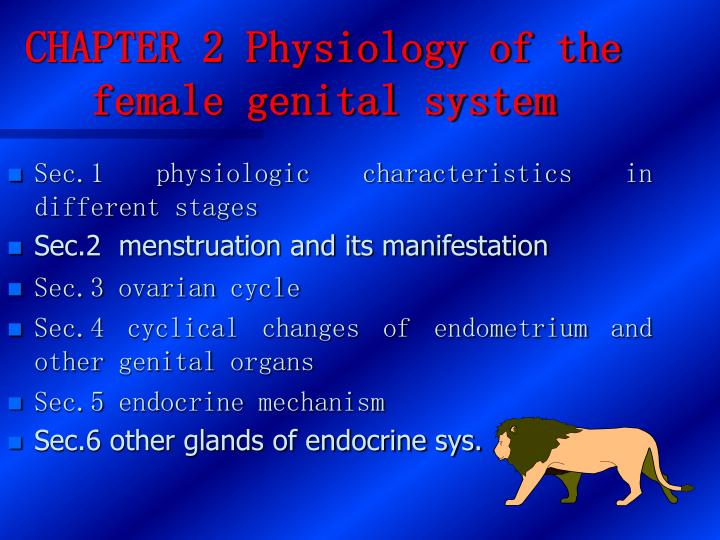 chapter 2 physiology of the female genital system n.
